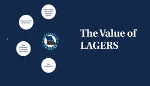 Cover page of The Value of LAGERS presentation
